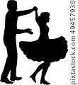 Square dance silhouette 49457930