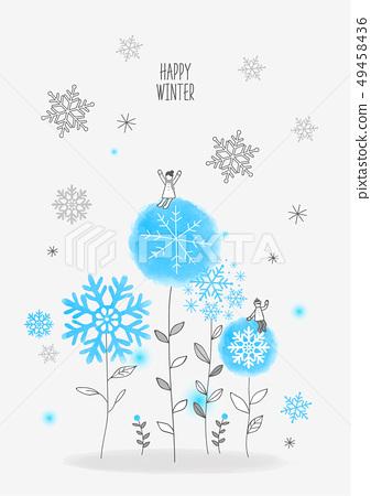 冬天的插圖 49458436