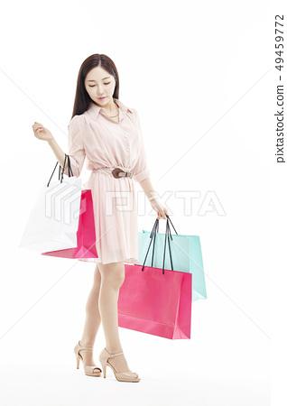 쇼핑,쇼퍼홀릭,비즈니스우먼,젊은여자 49459772