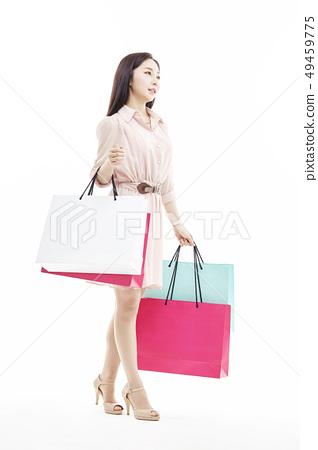 쇼핑,쇼퍼홀릭,비즈니스우먼,젊은여자 49459775