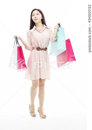 쇼핑,쇼퍼홀릭,비즈니스우먼,젊은여자 49460592