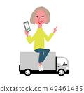 操作在軌道的婦女一個智能手機 49461435
