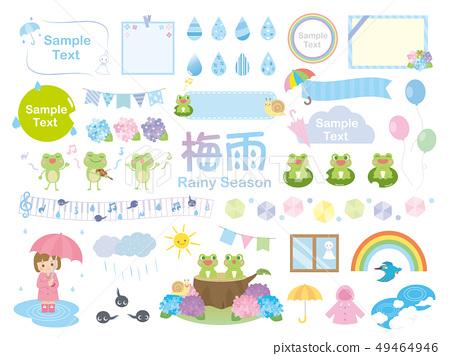 可愛的雨季插圖素材 49464946
