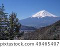 Fuji in the early spring, seen from the Route 139 Misaka Road Observatory, Fujikawaguchiko Town, Minamitsuru-gun, Yamanashi Prefecture 49465407