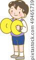 Boy playing cymbals 49465739