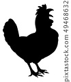 Chicken Rooster Farm Animal Silhouette 49468632
