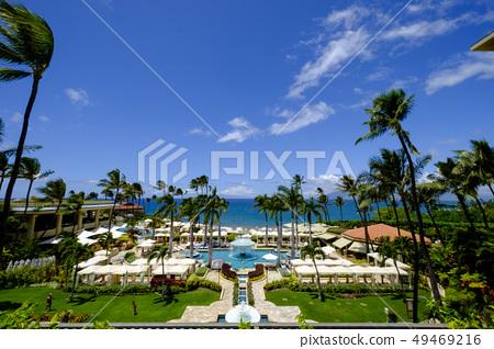 하와이 마우이 섬의 리조트 호텔 49469216