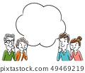 插圖素材:家庭思考 49469219