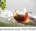 กาน้ำชาแก้วและชา 49470566