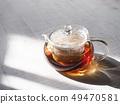 กาน้ำชาแก้วและชา 49470581