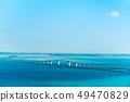 코발트 블루의 바다에 가설 이라부 대교 49470829