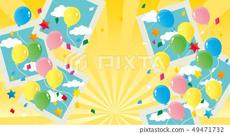 氣球飛得很好的插圖 49471732