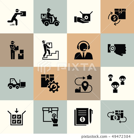 Vector delivery logistic icons for web, infographic or print. 49472384