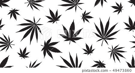Marijuana weed seamless pattern vector cannabis  49473860