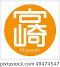 Miyazaki, Miyazaki (one letter, prefecture) 49474547