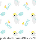 Bright seamless pattern with funny pirate cats 49475570
