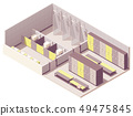 Vector isometric locker room 49475845