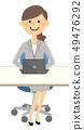 정장 여성 노트북 PC 49476292
