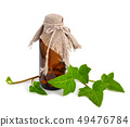 Hedera with a pharmaceutical bottle 49476784