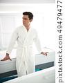 male, guy, bathrobe 49479477