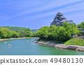 【오카야마 현] 신록의 오카야마 성 천수각 49480130