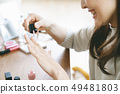 메이크업 젊은 여성 화장품 49481803
