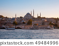 Beautiful view of Istanbul skyline at sunset, 49484996