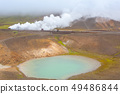 Viti crater with green water lake inside, Iceland 49486844