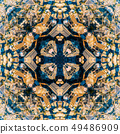 Abstract geometric symmetrical fractal pattern 49486909