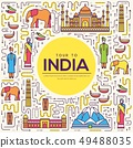 Country India travel vacation guide of goods 49488035