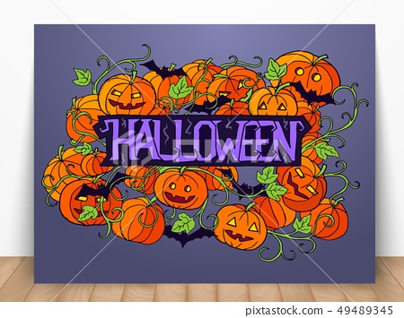halloween abstract illustration. 49489345