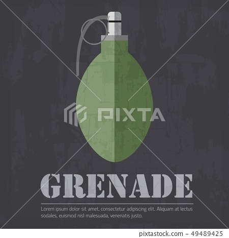 grunge military grenede icon background concept 49489425