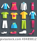 collection style fashion clothing for people. 49489812