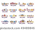 Country thin line icons travel vacation guide. 49489846