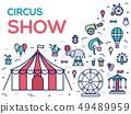 Premium quality circus outline icons infographic 49489959