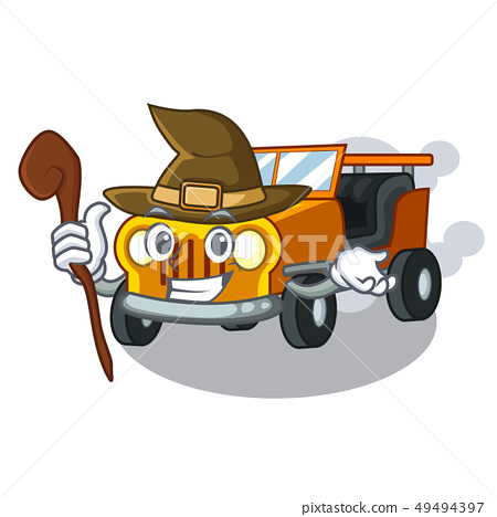Witch jeep car toys in shape character 49494397