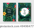 Floral card set Wedding Invitation, save the date, 49496477