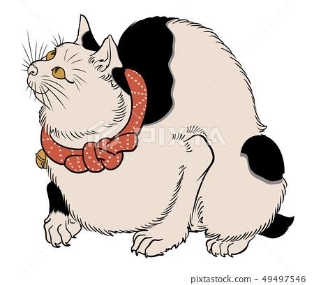 우키요에의 고양이 49497546