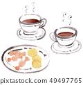 커피와 과자 49497765