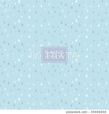 Rainy season pattern vector. Water drop background 49498808