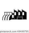 Hydroelectric power station icon 49499795