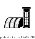 Hydroelectric power station icon 49499798