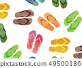 海灘涼鞋樣式_水彩樣式 49500186