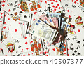 Four aces, various colorful playing cards 49507377