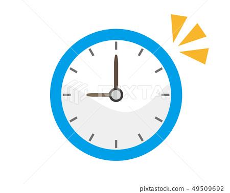 時鐘時間圖標鬧鐘報警 49509692