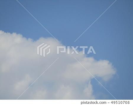 春天藍天和白色雲彩 49510708