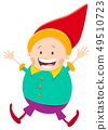 happy gnome or dwarf cartoon illustration 49510723