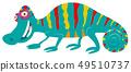 funny chameleon cartoon animal character 49510737