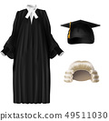 Judge and academic dressing realistic vector set 49511030