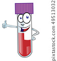 Cartoon colorful blood test tube mascot isolated 49513032